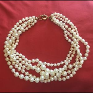 J. Crew Cluster Pearl Necklace